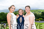 Enjoying the Colaiste na Sceilge Debutante Ball at Ballyroe Heights Hotel on Tuesday were l-r  Roisin Galvin, Chloe Lyne and Lynda O'Neill