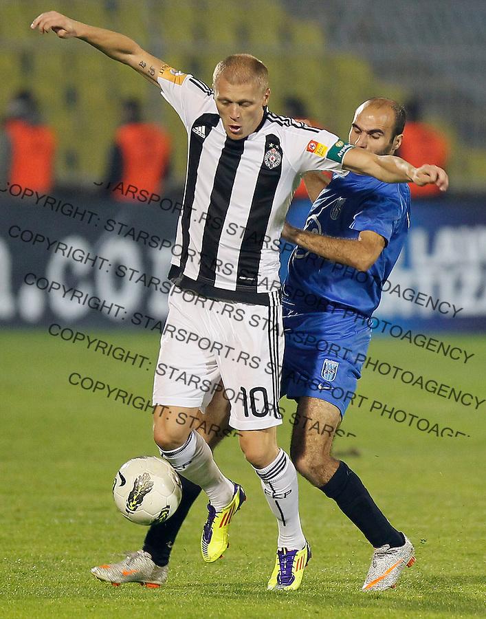 Fudbal, Jelen super liga, season 2011/2012.Partizan Vs. Smederevo.Zvonimir Vukic, left and Dejan Zivkovic.Beograd, 29.10.2011..Srdjan Stevanovic/Starsportphoto ©
