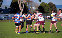 Action from the Manawatu Hankins Shield club rugby match between Feilding Old Boys Oroua and College Old Boys at Arena Manawatu in Palmerston North, New Zealand on Saturday, 2 May 2018. Photo: Dave Lintott / lintottphoto.co.nz