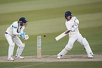 Alex Davies of Lancashire CCC cuts to the point boundary during Middlesex CCC vs Lancashire CCC, Specsavers County Championship Division 2 Cricket at Lord's Cricket Ground on 13th April 2019
