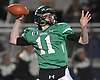 Kevin McCormick #11 of Farmingdale throws a pass during the Nassau County Conference I varsity football semifinals against Oceanside at Hofstra University on Saturday, Nov. 11, 2017.