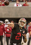 San Francisco 49ers quarterback Blaine Gabbert (2) throws touchdown pass on Thursday, October 06, 2016 at Levis Stadium in Santa Clara, California. The Cardinals defeated the 49ers 33-21.