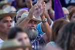 Supporters during the closing of the electoral campaign of Unidos Podemos. 24,06,2016. (ALTERPHOTOS/Rodrigo Jimenez)