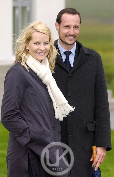Crown Prince Haakon & Crown Princess Mette-Marit of Norway's visit to Iceland..Visit to Reykholt..