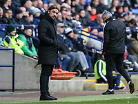 Norwich City's manager Daniel Farke <br /> <br /> Photographer Andrew Kearns/CameraSport<br /> <br /> The EFL Sky Bet Championship - Bolton Wanderers v Norwich City - Saturday 16th February 2019 - University of Bolton Stadium - Bolton<br /> <br /> World Copyright © 2019 CameraSport. All rights reserved. 43 Linden Ave. Countesthorpe. Leicester. England. LE8 5PG - Tel: +44 (0) 116 277 4147 - admin@camerasport.com - www.camerasport.com