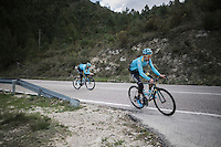Fabio Aru (ITA/Astana) preparing for the 2017 season on the Coll de Rates (alt 626m/Alicante/Spain) in january