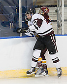 Jeremy Welsh (Union - 27), J.T. Brown (Duluth - 23) - The University of Minnesota-Duluth Bulldogs defeated the Union College Dutchmen 2-0 in their NCAA East Regional Semi-Final on Friday, March 25, 2011, at Webster Bank Arena at Harbor Yard in Bridgeport, Connecticut.