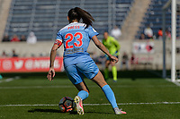 Bridgeview, IL - Saturday May 06, 2017: Christen Press during a regular season National Women's Soccer League (NWSL) match between the Chicago Red Stars and the Houston Dash at Toyota Park. The Red Stars won 2-0.