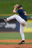 Starting pitcher Andrew Carraway #38 of the Virginia Cavaliers in action versus the Florida State Seminoles at Durham Bulls Athletic Park May 24, 2009 in Durham, North Carolina. The Virginia Cavaliers defeated the Florida State Seminoles 6-3 to win the 2009 ACC Baseball Championship.  (Photo by Brian Westerholt / Four Seam Images)
