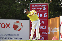 Felipe Aguilar (CHI) tees off the 6th tee during Friday's Round 3 of the Commercial Bank Qatar Masters 2013 at Doha Golf Club, Doha, Qatar 25th January 2013 .Photo Eoin Clarke/www.golffile.ie