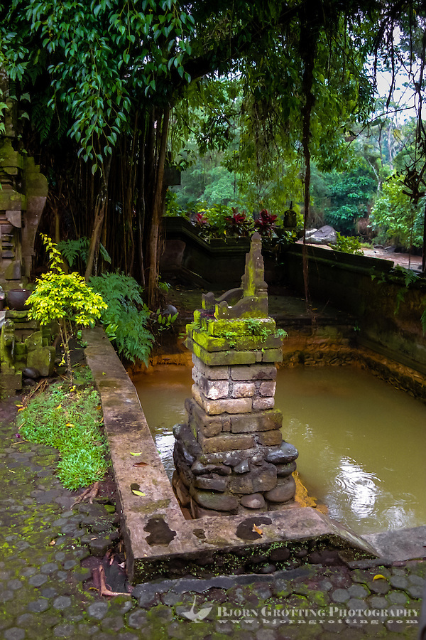 Bali, Tabanan, Yeh Panes. Hot springs and spa. The hot spring is surfacing inside this small temple.