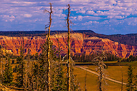 Views of cliffs of Cedar Breaks National Monument, seen from Brian Head ski area, near Cedar City, Utah, USA