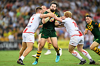 Aaron Woods.<br /> RLWC Mens Final.<br /> Australia v England.<br /> Suncorp Stadium. Brisbane, Australia<br /> Saturday 2 December 2017.<br /> Picture : NRL Photos MANDATORY CREDIT/BYLINE : Tertius Pickard/SWpix.com/PhotosportNZ