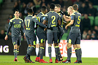 GRONINGEN - Voetbal, FC Groningen - PSV,  Eredivisie , Noordlease stadion, seizoen 2017-2018, 13-12-2017,   PSV viert de 0-1