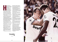 West Ham Utd Programme - 31-Aug-2019 - Mark Noble and Sebastien Haller of West Ham United - Photo by Rob Newell (Camerasport via Getty Images)