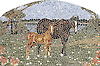 16 x 24 inch Mother and Baby Horse panel in a high-honed-pillowed finish