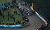 race start<br /> <br /> U23 Men's race<br /> UCI CX World Cup Namur / Belgium 2017