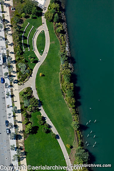 Aerial photograph Mission Bay Mission Creek park San Francisco California