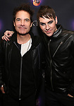 """Pat Monahan and Tony Vincent attends the Broadway Opening Night Performance After Party of  """"Rocktopia"""" at The Hard Rock Cafe on March 27, 2018 in New York City."""