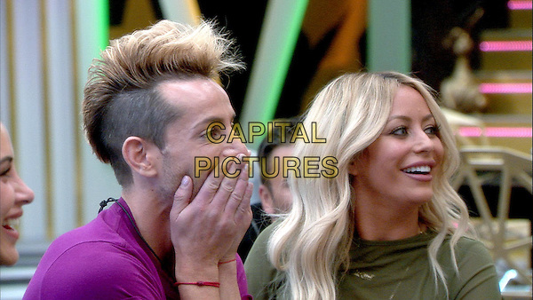 Celebrity Big Brother, Summer 2016, Day 22<br /> Frankie Grande, Aubrey O'Day<br /> *Editorial Use Only*<br /> CAP/KFS<br /> Image supplied by Capital Pictures