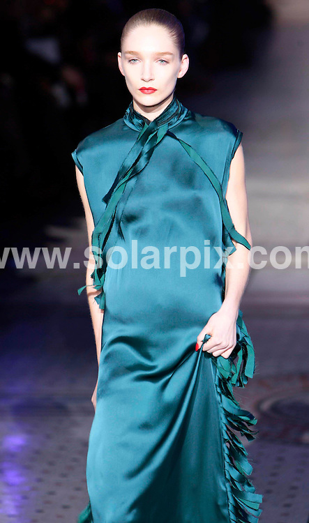 **ALL ROUND PICTURES FROM SOLARPIX.COM**                                             **NO UK NEWSPAPER PUBLICATION**.**UK MAGAZINE & SUPPLEMENT PUBLICATION ONLY** AND NO PUBLICATION IN AUSTRALIA, BELGIUM, FRANCE, GERMANY, ITALY, SCANDINAVIA AND USA**                                                                                  Caption: The Giles catwalk show at London Fashion Week, London, UK. 21 February 2011                                                                              This pic: Giles catwalk show                                                                                          JOB REF: 12865 SFE       DATE: 21_02_2011                                                           **MUST CREDIT SOLARPIX.COM OR DOUBLE FEE WILL BE CHARGED**                                                                      **MUST AGREE FEE BEFORE ONLINE USAGE**                               **CALL US ON: +34 952 811 768 or LOW RATE FROM UK 0844 617 7637**