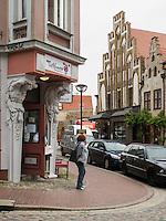 Café am Beginenberg und Krahnstöverhaus in Rostock, Mecklenburg-Vorpommern, Deutschland