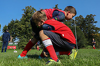 London Scottish Juniors and Minis Training Session and meet the London Scottish First IV at Richmond Athletic Ground, Richmond, United Kingdom on 2 September 2018. Photo by David Horn.
