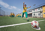 A boy kicks a football in a class at the Al Bishara School, which is run by the Dominican Sisters of St. Catherine of Siena in Ankawa, near Erbil, Iraq. The students and the Dominican Sisters themselves were displaced by ISIS in 2014. The nuns have established schools and other ministries among the displaced.