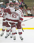 Colin Blackwell (Harvard - 63) - The Harvard University Crimson defeated the visiting Rensselaer Polytechnic Institute Engineers 5-2 in game 1 of their ECAC quarterfinal series on Friday, March 11, 2016, at Bright-Landry Hockey Center in Boston, Massachusetts.