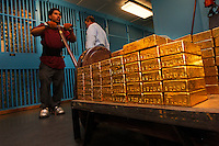 Gold Vault at the New York Federal Reserve at 33 Liberty St.  Contact is Andrew Williams 212 720 6143...The Federal Reserve Bank of New York - one of the twelve regional capital reserve banks in the capital federal reserve system - is located in the heart of the financial district in downtown Manhattan and holds FIVE percent of the world's gold... at 125,000 tons of gold in the world, that means they must have 6,250 tons...The vault contains international monetary gold and the move of just a few feet between storage closets can shape the balance of financial power between nations.