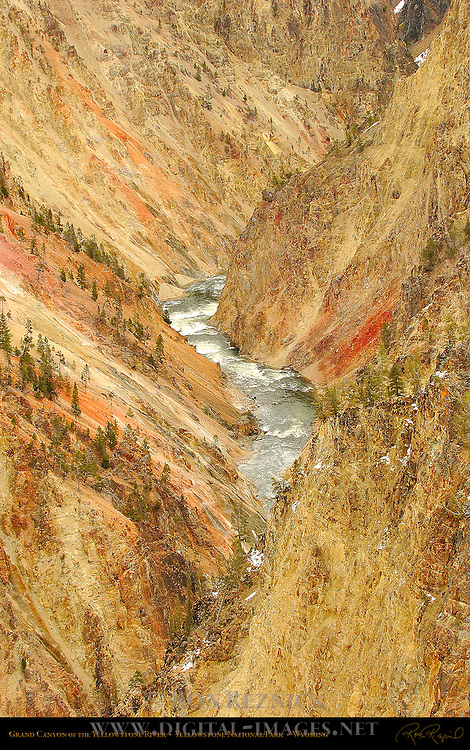 Grand Canyon of the Yellowstone River in Winter, Yellowstone National Park, Wyoming