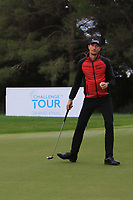 Sebastian Heisele (GER) on the 17th green during Round 4 of the Challenge Tour Grand Final 2019 at Club de Golf Alcanada, Port d'Alcúdia, Mallorca, Spain on Sunday 10th November 2019.<br /> Picture:  Thos Caffrey / Golffile<br /> <br /> All photo usage must carry mandatory copyright credit (© Golffile | Thos Caffrey)