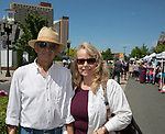 Charles and Hazel Gomes during the Lavender and Honey Festival in Sparks on Sunday, June 25, 2017.