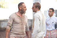 Papillon (2017)<br /> Tommy Flanagan, Charlie Hunnam, Rami Malek<br /> *Filmstill - Editorial Use Only*<br /> CAP/FB<br /> Image supplied by Capital Pictures