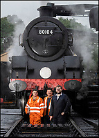 BNPS.co.uk (01202)558833<br /> Pic: PhilYeomans/BNPS<br /> <br /> New blood -  L-r Fireman Will Armston-Sheret, locomotive cleaner Ben Ford and fellow cleaner Jamie Goodman<br /> <br /> Growth Industry - Britain's enduring love affair with steam trains has led to a critical shortage of drivers, 56 years after the infamous Beeching Axe was supposed to have fallen.<br /> <br /> More steam train's are running today than at anytime since Dr Beechings drastic cut in 1963 - with over 150 steam heritage railways and museums attracting 13 million visitors a year.<br /> <br /> One of the most popular heritage railways in the country has put out an SOS for steam drivers - as so many of its stalwarts are retiring.<br /> <br /> Swanage Railway in Dorset has 42 steam drivers on their books, but the majority are in their 60s or older and likely to step down in the coming years.<br /> <br /> They need to train up to 40 drivers over the next five years to replace them and meet their expanding service, which attracts over 200,000 visitors each year.<br /> <br /> To fill the void, a group of enthuisastic young volunteers are being taught the skill, a process which can take up to a decade.<br /> <br /> The Heritage Railway Association, which oversees them, says some of their railways have a 'more pressing need for new blood'.