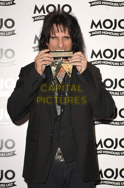 ALICE COOPER (Winner of The MOJO Hero award).The MOJO Honours List Ceremony, The Brewery,London, England..June 18th , 2007.half length black jacket award trophy funny teeth .CAP/BEL.©Belcher/Capital Pictures