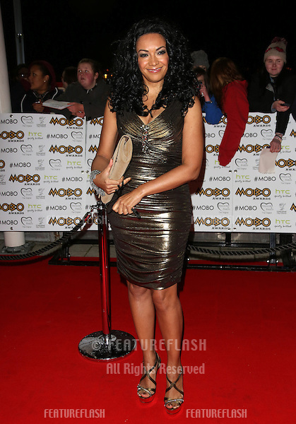 Kanya King arriving for The MOBO awards 2012 held at the Echo Arena, Liverpool. 03/11/2012 Picture by: Henry Harris / Featureflash