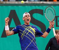26-05-10, Tennis, France, Paris, Roland Garros, Thiemo de Bakker  verslaat Garcia-Lopez