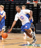 Derrick Wilson at the NBPA Top100 camp June 18, 2010 at the John Paul Jones Arena in Charlottesville, VA. Visit www.nbpatop100.blogspot.com for more photos. (Photo © Andrew Shurtleff)