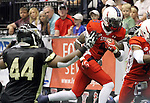SIOUX FALLS, SD - JUNE 23:  James Terry #9 from the Sioux Falls Storm runs past the defense from the Lee Valley Steelhawks in the first quarter of their first round playoff game Saturday night at the Sioux Falls Arena. (Photo by Dave Eggen/Inertia)