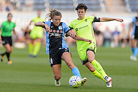 Chicago, IL - Sunday Sept. 04, 2016: Sofia Huerta, Keelin Winters during a regular season National Women's Soccer League (NWSL) match between the Chicago Red Stars and Seattle Reign FC at Toyota Park.