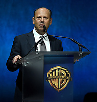LAS VEGAS, NV - APRIL 24: President of Worldwide Theatrical Distribution and Warner Bros. Home Entertainment Ron Sanders onstage during the Warner Bros. Pictures presentation at CinemaCon 2018 at The Colosseum at Caesars Palace on April 24, 2018 in Las Vegas, Nevada. (Photo by Frank Micelotta/PictureGroup)