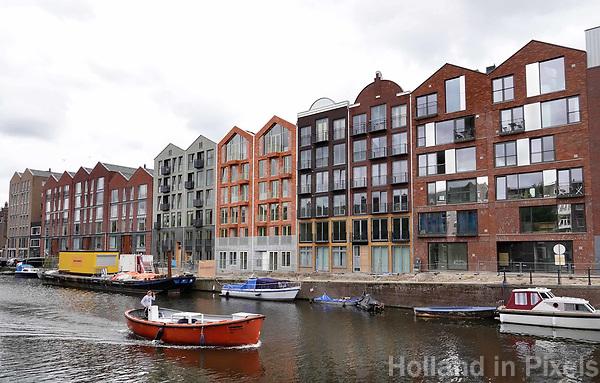 Nederland -  Amsterdam -  2018. Nieuwbouw aan de Bilderdijkkade in Amsterdam West.     Foto Berlinda van Dam / Hollandse Hoogte