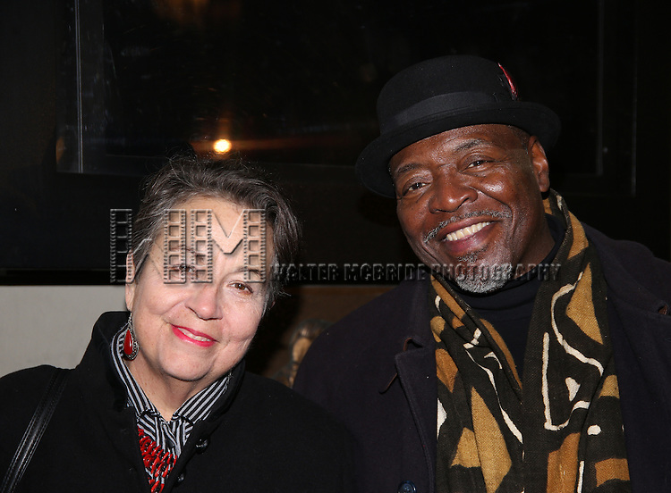 Deborah Brevoort and Chuck Cooper attend the Manhattan Theatre Club's Broadway debut of August Wilson's 'Jitney' at the Samuel J. Friedman Theatre on January 19, 2017 in New York City.
