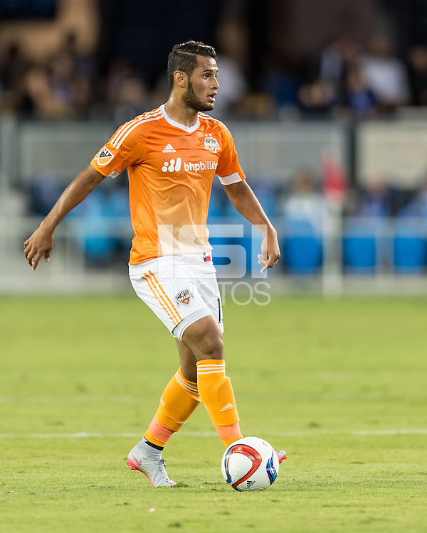SAN JOSE, CA - July 10, 2015: The San Jose Earthquakes vs Houston Dynamo match at Avaya Stadium in San Jose, CA. Final score SJ Earthquakes 0, Houston Dynamo 2.