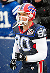3 January 2010: Buffalo Bills' defensive end Chris Kelsay warms up prior to a game against the Indianapolis Colts on a cold, snowy, final game of the season at Ralph Wilson Stadium in Orchard Park, New York. The Bills defeated the Colts 30-7. Mandatory Credit: Ed Wolfstein Photo