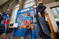 Picture by Allan McKenzie/SWpix.com - 25/09/2017 - Rugby League - Super League Dream Team 2017 - Aspire, Leeds, England - Albert Kelly is interviewed.