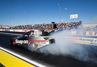 Mar 30, 2014; Las Vegas, NV, USA; NHRA funny car driver Cruz Pedregon during the Summitracing.com Nationals at The Strip at Las Vegas Motor Speedway. Mandatory Credit: Mark J. Rebilas-