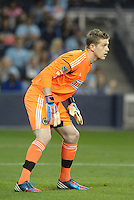 Zac MacMath Philadelphia Union goalkeeper. .Sporting Kansas City defeated Philadelphia Union 2-1 at LIVESTRONG Sporting Park, Kansas City, KS.