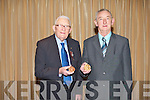 MEDALS: Member's of St Vincent de Paul who received their services medals at the Carlton hotel, Tralee on Sunday l-r: Paddy Ryan, Killarney (63 years service), and Jim Cronin (58 years service).